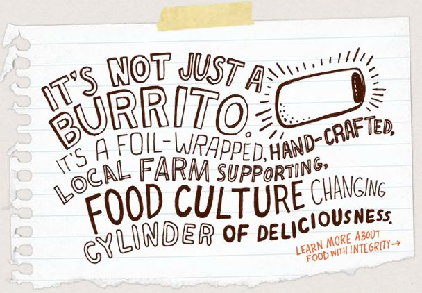 chipotle mexican grill ad campaign Chipotle mexican grill, inc (nyse: cmg) investors got more good news  $135  million in launching a new ad campaign, improving online and.