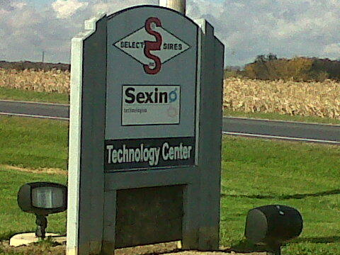 Not the type of sign you will see everywhere. Driving up to Select Sires Facilities