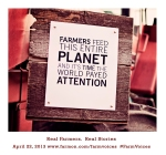 earth day farmers feed the world flyer