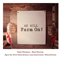 earth day we will farm on flyer