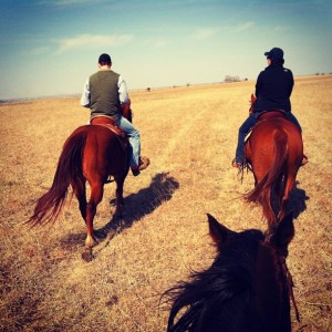 Kansas Flint hills Horseback There's something about the outside of a horse that is good  for the inside of a man