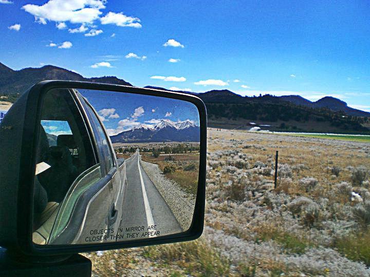 colorado mountains mirror reflection