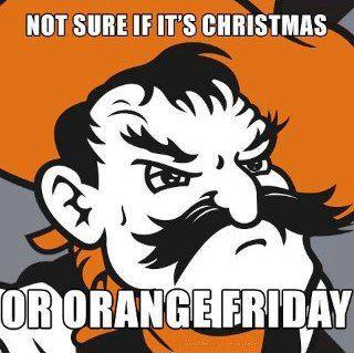 Oklahoma State Pistol Pete Meme Orange Friday