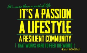 Agriculture lifestyle community feeding the world quote