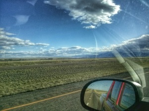montana wide open skies from the interstate