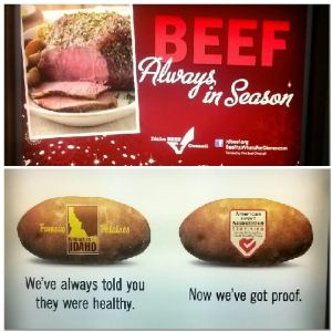 Idaho - The Land of Steak and Potatoes - Agriculture proudly represented at the airport baggage claim!