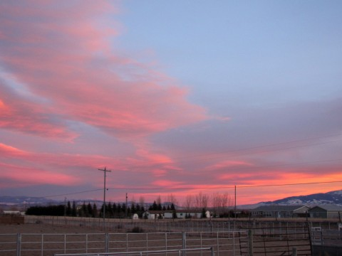 Montana Sunset Big Sky