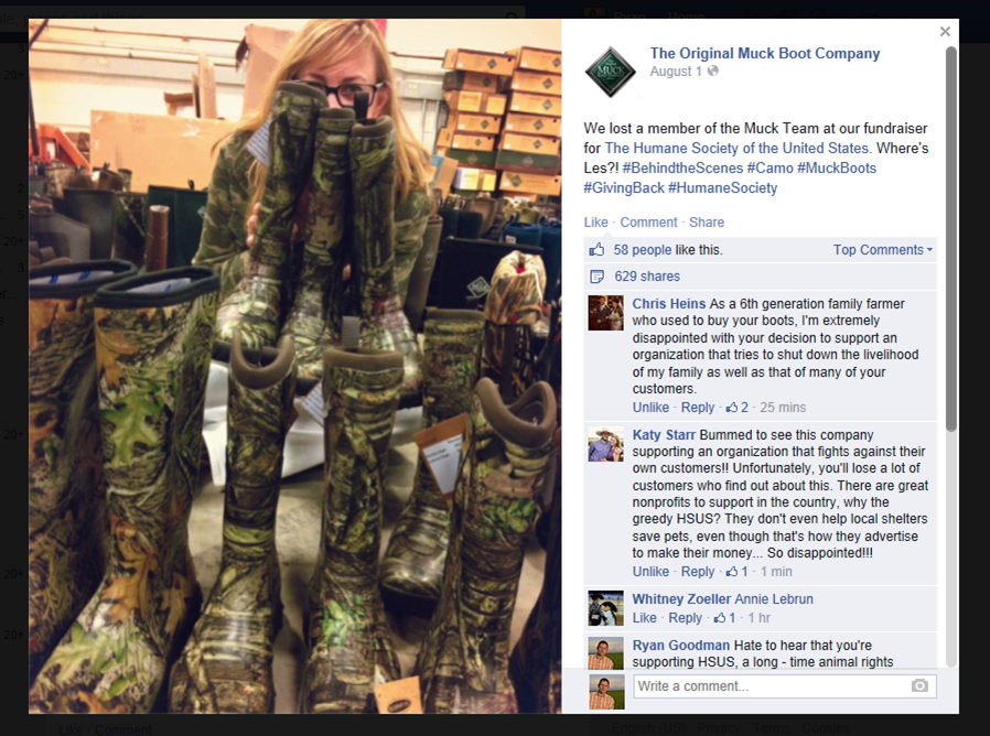 Updated: Muck Boots Sleeps While Social Media Lights Up Over HSUS ...