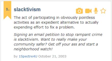 slacktivism definition