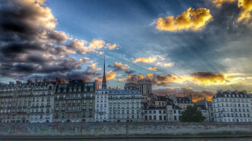 france paris sunset landscape