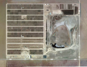 A satellite view of the feedlot where my family sent our cattle for finish feeding. Wrangler Feedyard, Tulia, TX
