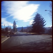 Sunny days in Helena this winter. No snow or ice on the neighborhood streets in town for a few weeks.