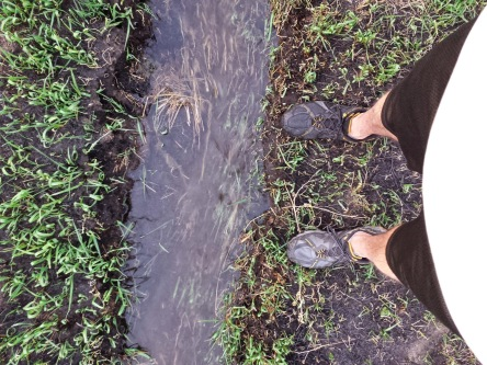 From where I stand.... It only took me 30 minutes into irrigation season to end up with a wet foot and a bruised shin. This is why I wear tennis shoes, so I don't end up with wet boots.