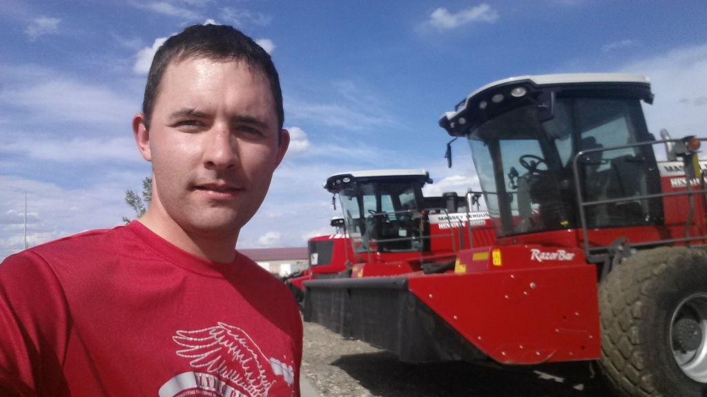Traveled to Billings this week for work. So on my run, of course I had to go shopping for a new swather and baler I have no way of affording at Billings Farmhand