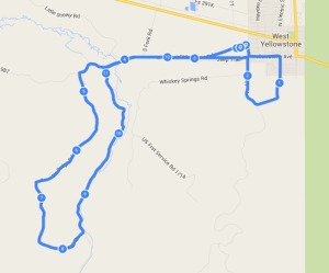 yellowstone half marathon route