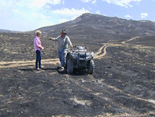 Idaho rancher explaining devastation following Soda Fire. Photo via KTVB