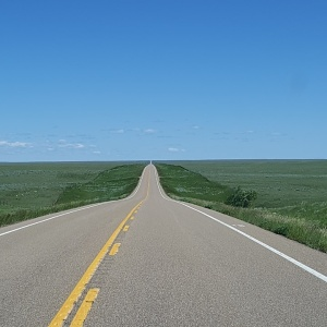 This scene is common when driving across southern Alberta and Saskatchewan