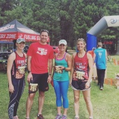 Montana Beef Runners representing Team Beef at the Trail Rail Run 50 mile relay! L to R - Billie Jo Holzer, Ryan Goodman, Haley Bradley and Doreen Caquelin