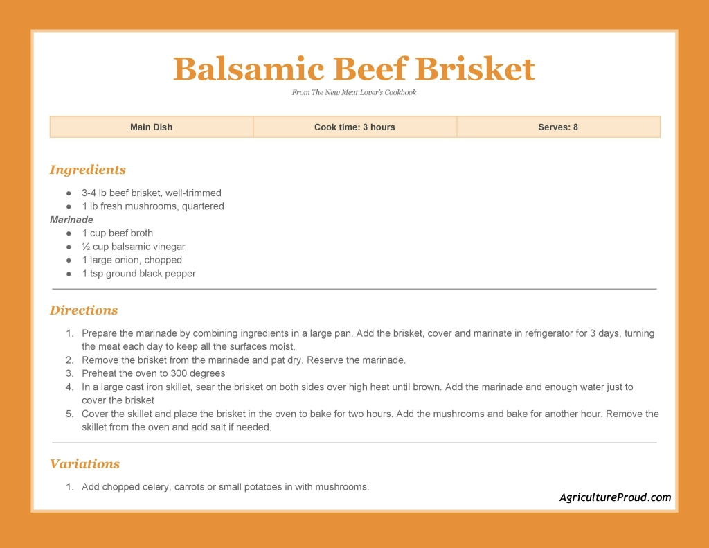 main dish balsamic beef brisket recipe